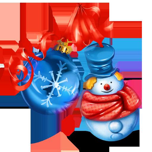 иконки snowman, снеговик, новый год, новогоднее украшение, шарик,