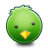 иконка bird, green, птица, зеленый, птичка,