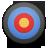 иконка Bullseye, мишень, тир,