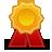 иконка prize, приз, медаль, награда,