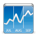 иконка stock, фонд, график, чарт, chart,