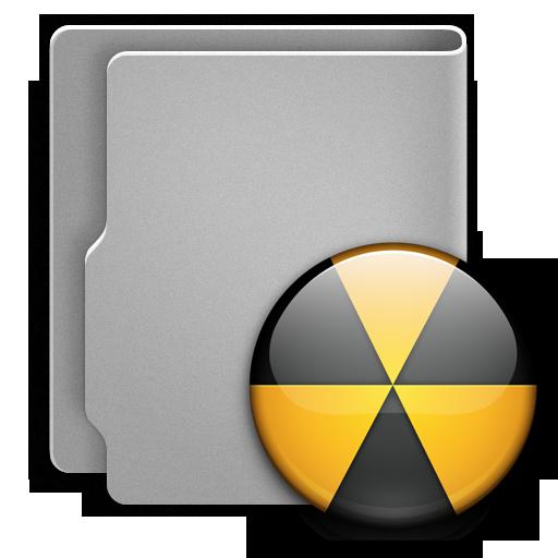 иконки burn, folder, опасность, радиация, папка