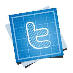 иконка blueprint, social, twitter, твиттер, план,
