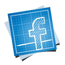 иконка blueprint, social, фейсбук, facebook, социальная сеть,