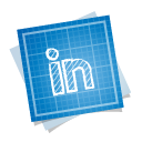 иконка blueprint, social, linkedin,