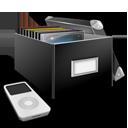 иконки music, box, коробка, музыка, диски,