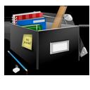 иконки school, box, школа, школьные принадлежности, учебники, книги, коробка,