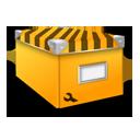 иконки  system, система, коробка, box, желтая коробка,