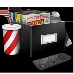 иконки movies, кино, диски, коробка, box, пульт,