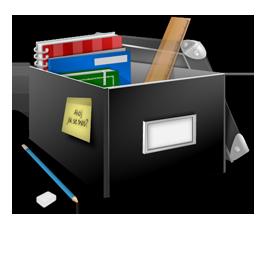 иконка school, box, школа, школьные принадлежности, учебники, книги, коробка,