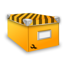 иконка system, система, коробка, box, желтая коробка,