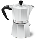 иконка  moka express, кофеварка,