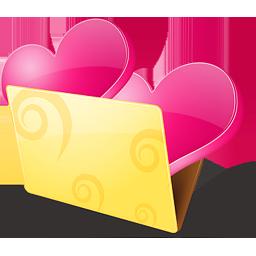иконка bookmarks, favorite, favourite, folder, love, закладки, любимые, папка, сердце, любовь,