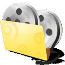 иконки  folder, movies, video, папка, папка с видео, видео, фильмы,