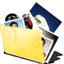 иконки folder, photos, папка, папка фотографий, фотографии, изображение,