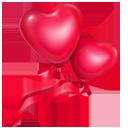 иконка balloons, шарики, сердце,