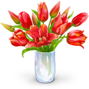 иконка bouquet, букет, цветы, цветок, ваза,