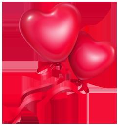 иконки balloons, шарики, сердце,