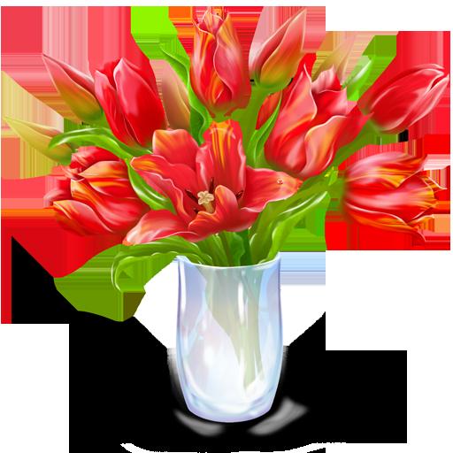 иконки bouquet, букет, цветы, цветок, ваза,