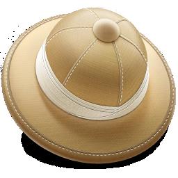 иконки safari, сафари, шляпа,