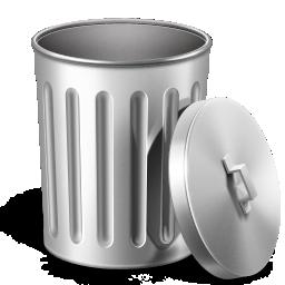иконки empty, trash, мусор, мусорный бак, пустой бак,