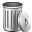 иконка empty, trash, мусор, мусорный бак, пустой бак,