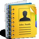 иконки address book, записная книжка, контакты,