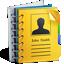 иконка address book, записная книжка, контакты,