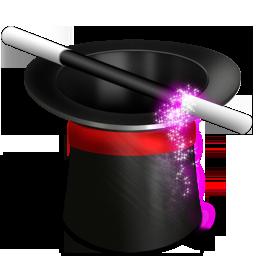 иконки customisation, настройка, волшебная шляпа, магия,