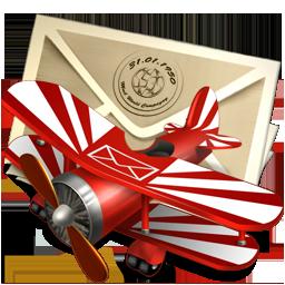 иконки mail, письмо, почта, самолет,