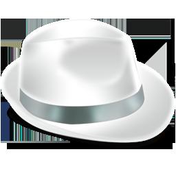 иконки Borsalino, белая шляпа,