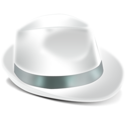 иконка Borsalino, белая шляпа,