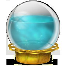 иконки CrystalBlue, шар, кристалл,