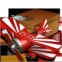 иконки mail, почта, посылка, самолет,