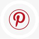 иконки logo, pinterest, round,