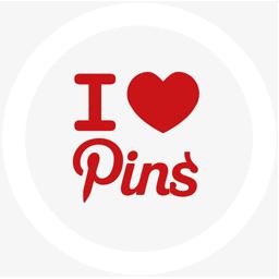 иконки pinlove, pinterest, round,