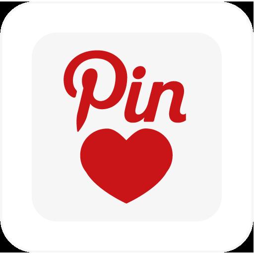 иконка pinaddict, pinterest, square,