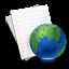 иконка интернет, internet, планета, документ, бумага, лист,