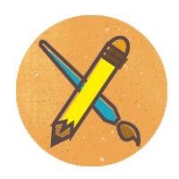 иконки pen, brush, ручка, кисть,