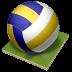 иконка volleyball, волейбол, мяч, волейбольный мяч,