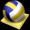 иконки beach volley, пляжный волейбол, волейбол, мяч,