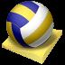 иконка beach volley, пляжный волейбол, волейбол, мяч,
