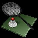 иконка badminton, бадминтон, ракетка,