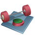 иконка weightlifting, штанга, тяжелая атлетика,