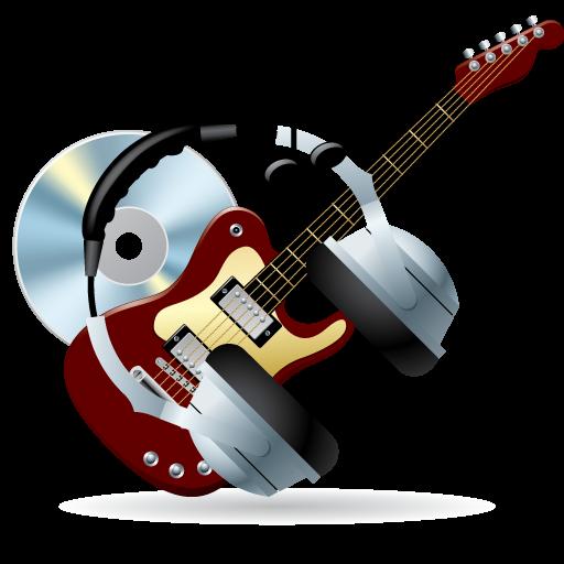 иконки disc, guitar, headphones, instrument, music, диск, гитара, наушники, музыка,