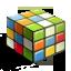 иконка cube, куб, кубик рубик, головоломка, квадрат,