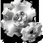 иконка gears, шестерни, шестеренки, механизм,