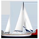 иконки яхта, корабль, лодка,