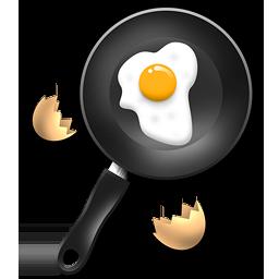 иконки яичница, завтрак, сковорода, сковородка,