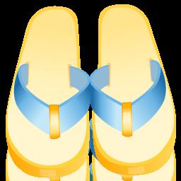 иконки flip flop, flipflops, шлепки, обувь,